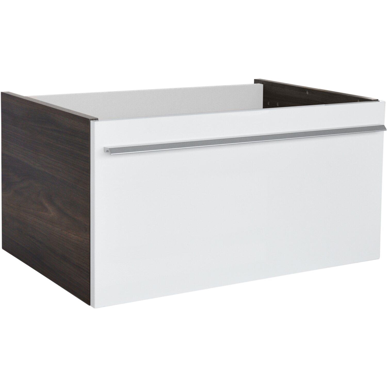 Fackelmann YEGA Waschbeckenunterschrank Badmöbel mit Schublade Ulme 80 cm
