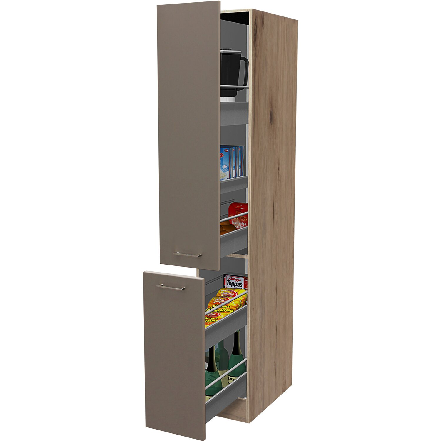 flex well apothekerschrank 30 cm arizona quarz cubanit san remo eiche kaufen bei obi. Black Bedroom Furniture Sets. Home Design Ideas