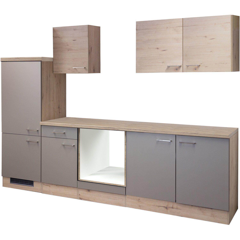 flex well k chenzeile arizona ohne e ger te 270 cm quarz san remo eiche kaufen bei obi. Black Bedroom Furniture Sets. Home Design Ideas