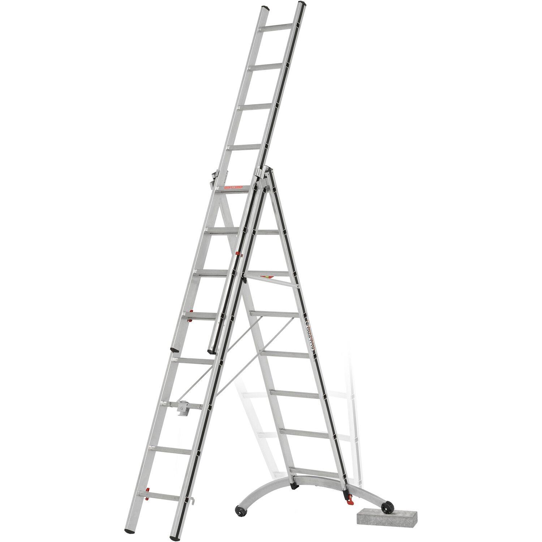 Mehrzweck-Leiter Aluminium 2,6 m 3-Wege-Teleskop-Verl/ängerung