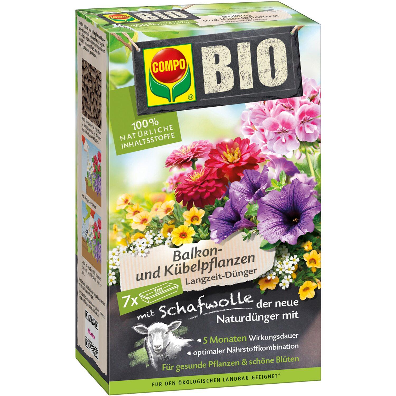 compo bio balkon und k belpflanzen langzeit d nger mit schafwolle 750 g kaufen bei obi. Black Bedroom Furniture Sets. Home Design Ideas