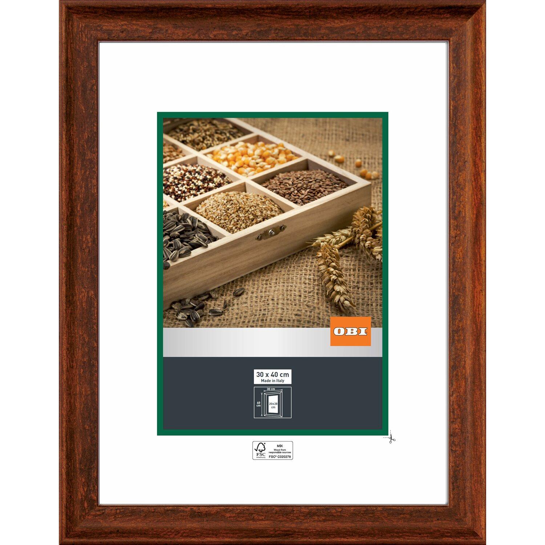 obi holz wechselrahmen rustikal braun 30 cm x 40 cm kaufen bei obi. Black Bedroom Furniture Sets. Home Design Ideas