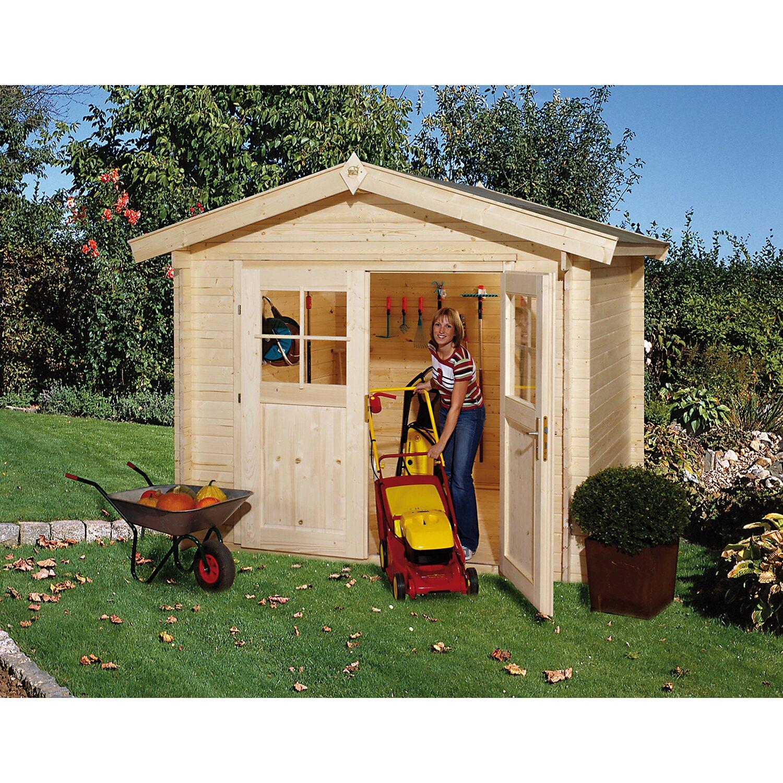 weka holz gartenhaus bregenz b mit doppelt r bxt 250 cm x 200 cm kaufen bei obi. Black Bedroom Furniture Sets. Home Design Ideas