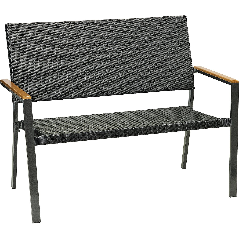 OBI Gartenbank Davenport Schwarz 2-Sitzer kaufen bei OBI