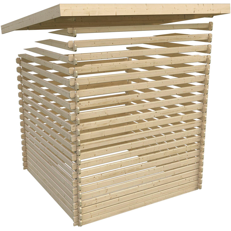 Woodfeeling Blockbohlenhaus Berlin 2 Natur BxT: 550 x 220 cm