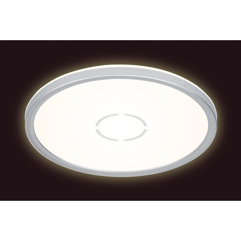 Briloner LED Deckenleuchte Free ultraflach Weiß Silber EEK: A A++