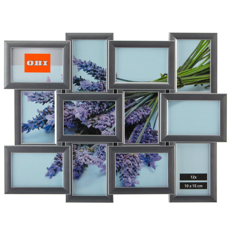 OBI Multi-Bilderrahmen für 12 Bilder Silber kaufen bei OBI