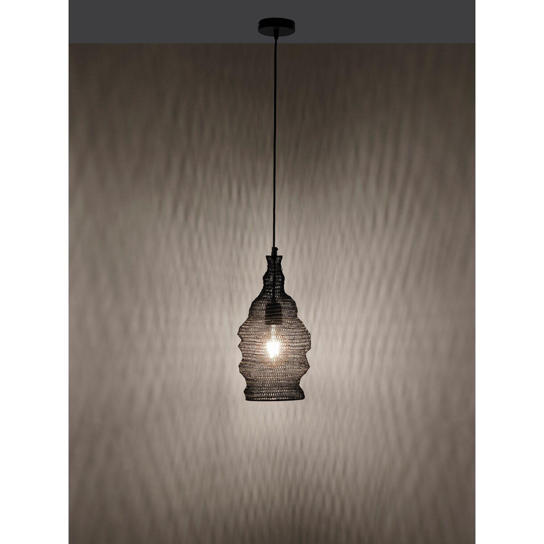 Pendelleuchte Kokon Schwarz Metallnetz Lampenschirm EEK: A++