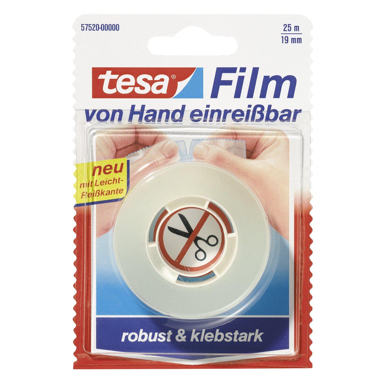 Tesa Film von Hand einreißbar 25 m x 19 mm
