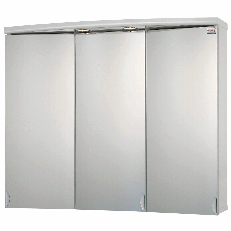 Sieper spiegelschrank ancona 83 cm wei eek c kaufen bei obi for Spiegelschrank obi