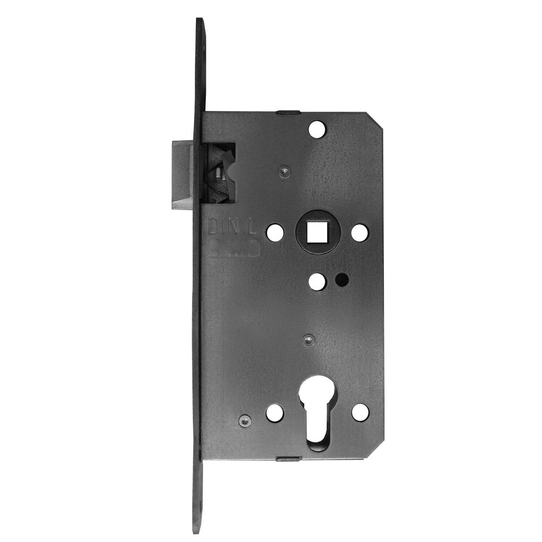 Bever Korridorschloss für Profilzylinder gefälzt DIN links Edelstahl
