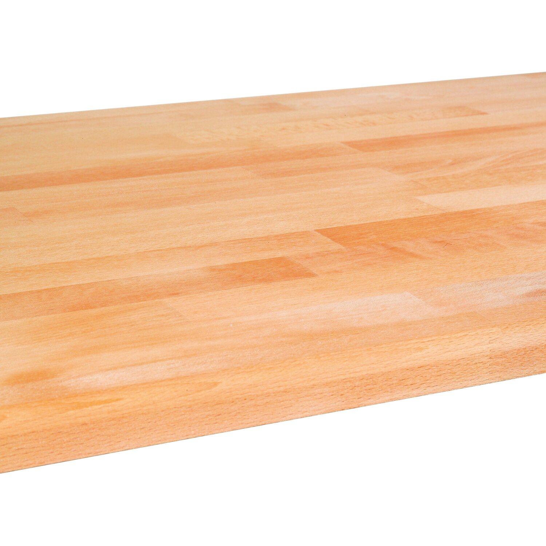 Massivholzplatte 240 cm x 60 cm x 2,7 cm Buche kaufen bei OBI