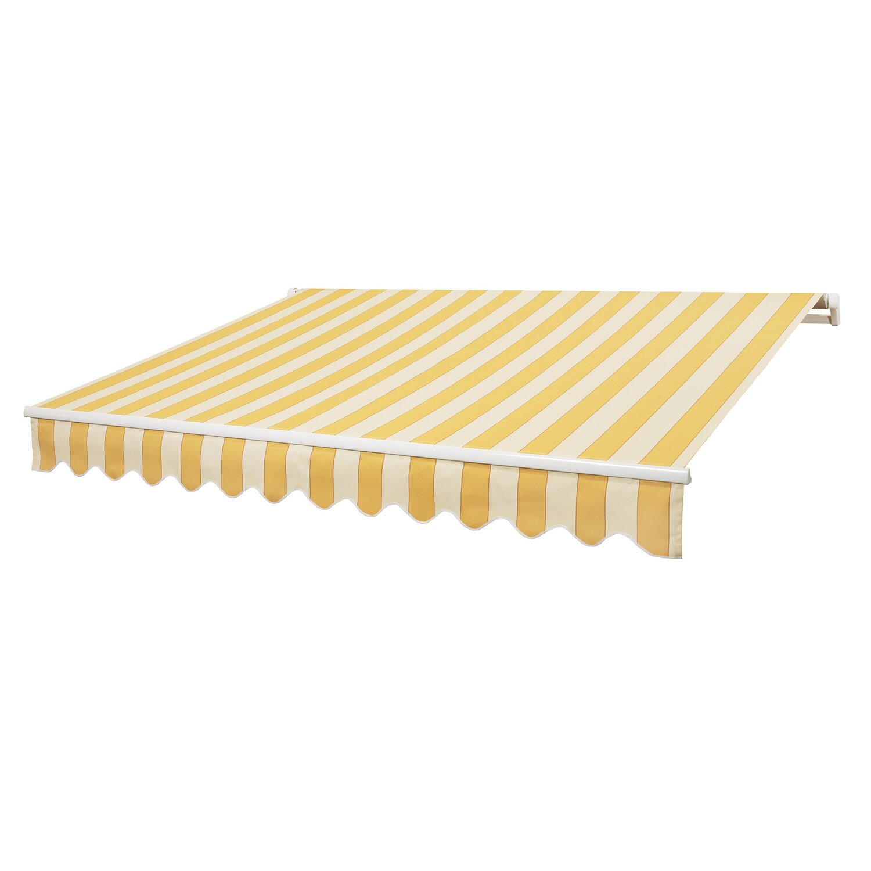 obi gelenkarm markise aventura gelb creme 400 cm x 250 cm kaufen bei obi. Black Bedroom Furniture Sets. Home Design Ideas