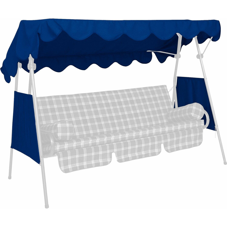 Angerer Freizeitmöbel Sonnendach für Hollywoodschaukel 120 x 200 cm Blau