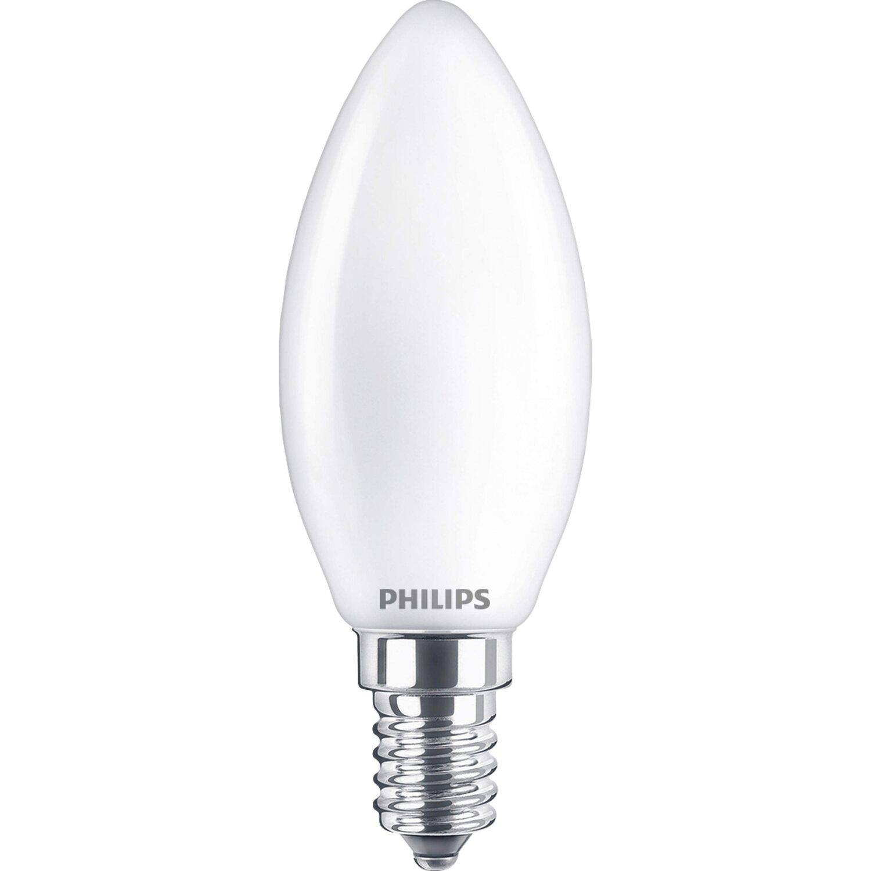 LightMe LED Filament Leuchtmittel Kerzenform 4W = 40W E14 klar 470lm warmweiß