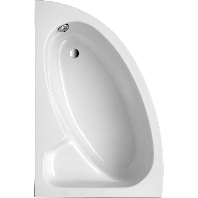 Ottofond Eck-Badewanne Salinas B 150 cm Weiß