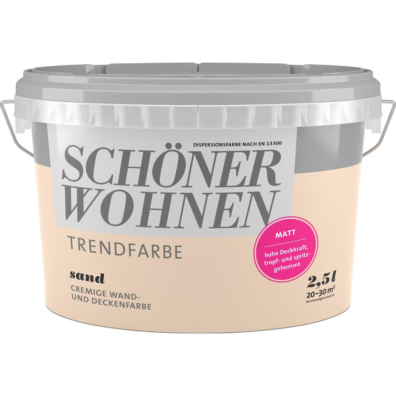 Astounding Schöner Wohnen Trendfarbe 2017 Dekoration Von Schöner Sand Matt 2,5 L