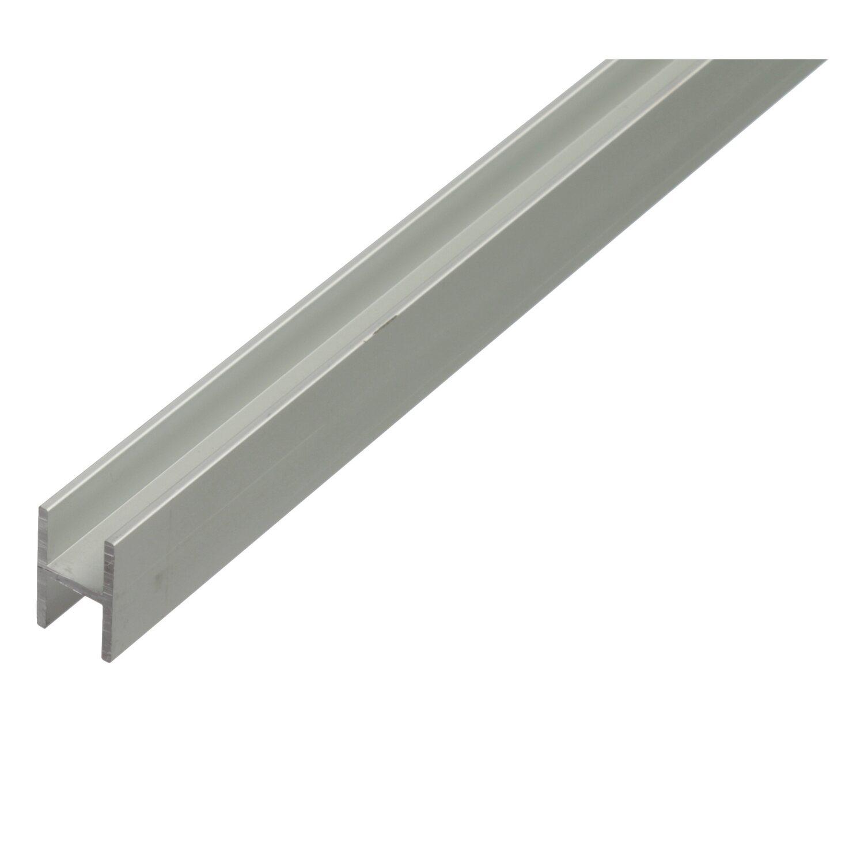 H-Profil Silber eloxiert 22 mm x 13,5 mm x 2000 mm