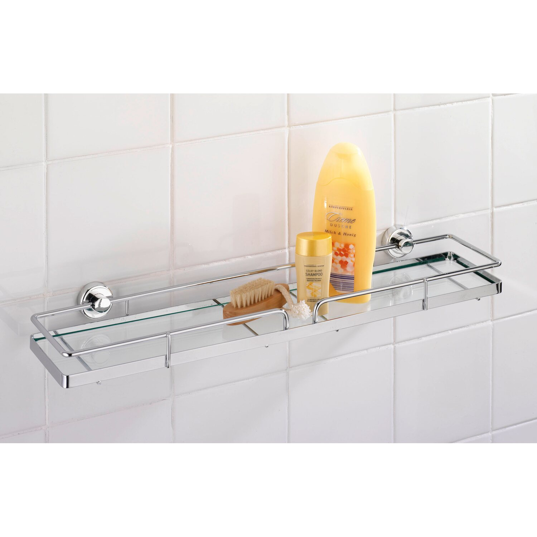 wenko glasablage sion power loc befestigen ohne bohren kaufen bei obi. Black Bedroom Furniture Sets. Home Design Ideas