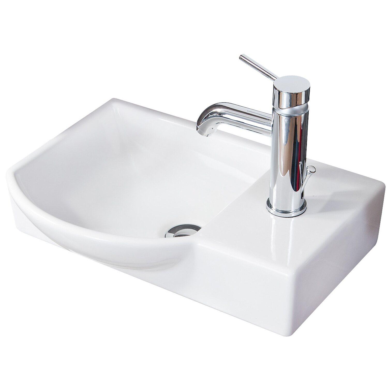 Fackelmann  Gäste-Waschbecken 45 cm Sceno Weiß