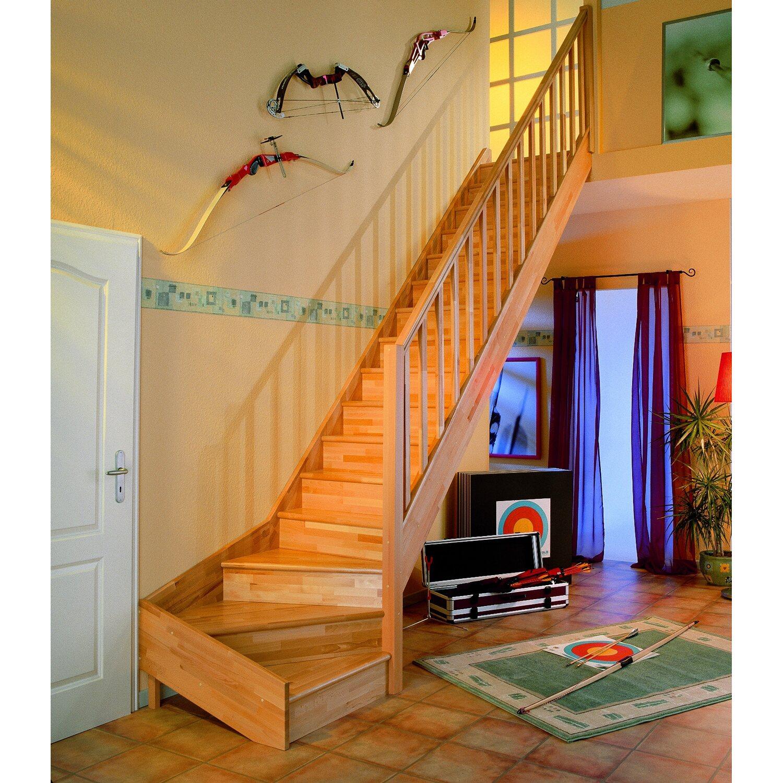dolle wangentreppe paris 1 4 gewendelt mit setzstufen fichte kaufen bei obi. Black Bedroom Furniture Sets. Home Design Ideas