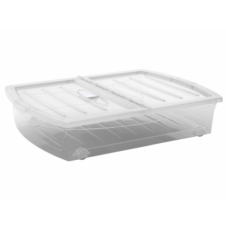 unterbettbox spinning box transparent 56 l kaufen bei obi. Black Bedroom Furniture Sets. Home Design Ideas
