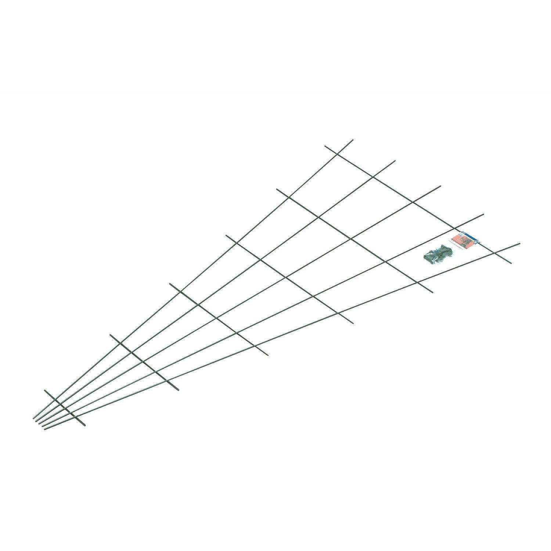 OBI Fächerspalier 150 cm x 75 cm Grün Preisvergleich
