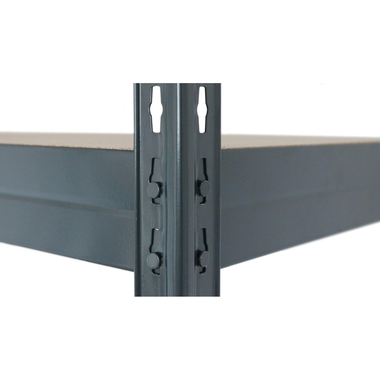 Metall Schwerlast Steckregal Rivet S Anthrazit 180 cm x 75