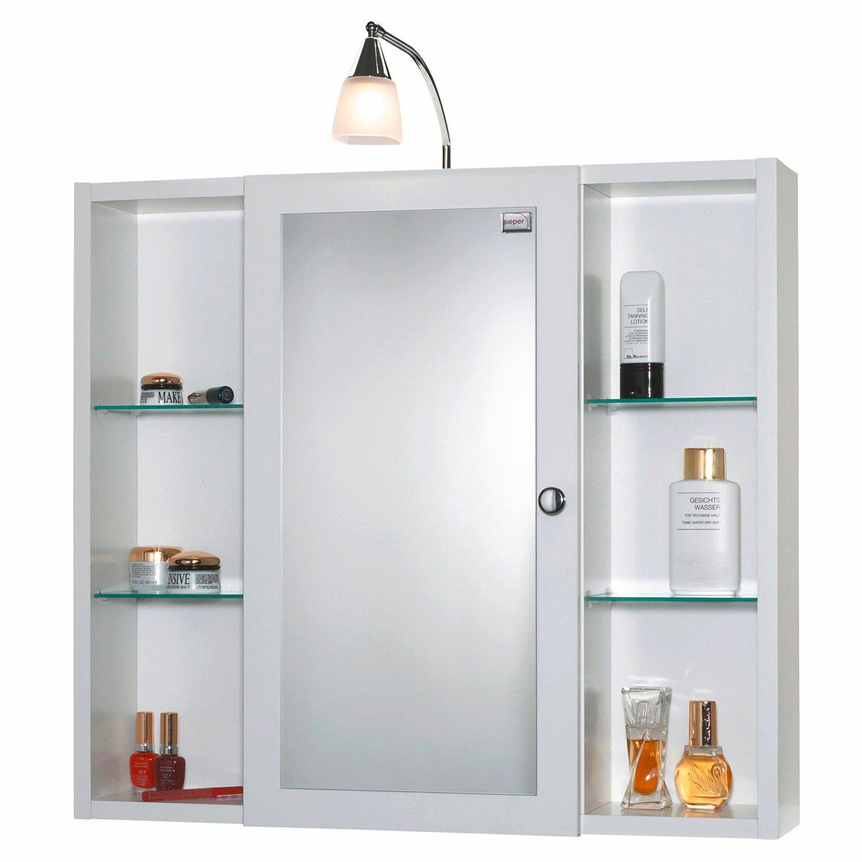 Sieper spiegelschrank latina 78 cm x 72 cm x 17 cm wei for Hochwertiger spiegelschrank bad