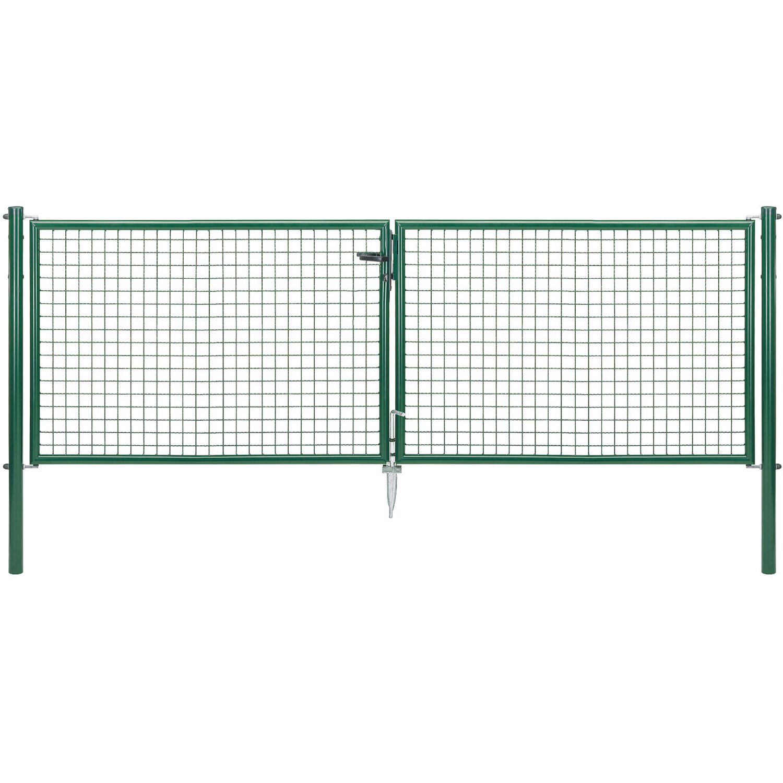 Doppeltor für Maschendraht- und Fix-Clip Pro-Zaun Grün 100 cm x 300 cm Preisvergleich