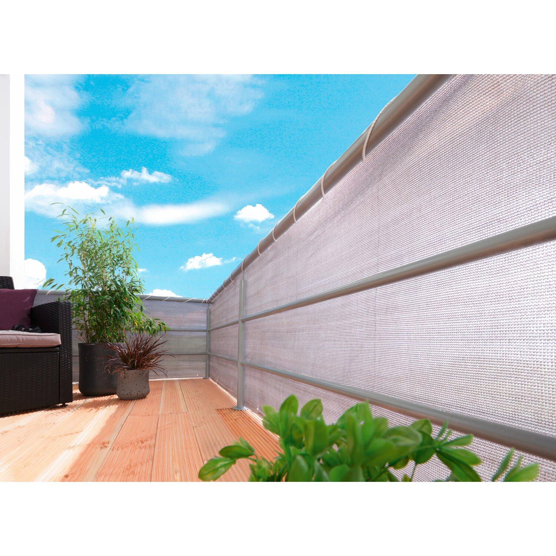 OBI Balkonbespannung Grau 500 cm x 90 cm kaufen bei OBI