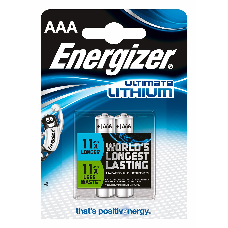 Energizer Ultimate Lithium Batterie AAA Micro 2 Stück Preisvergleich