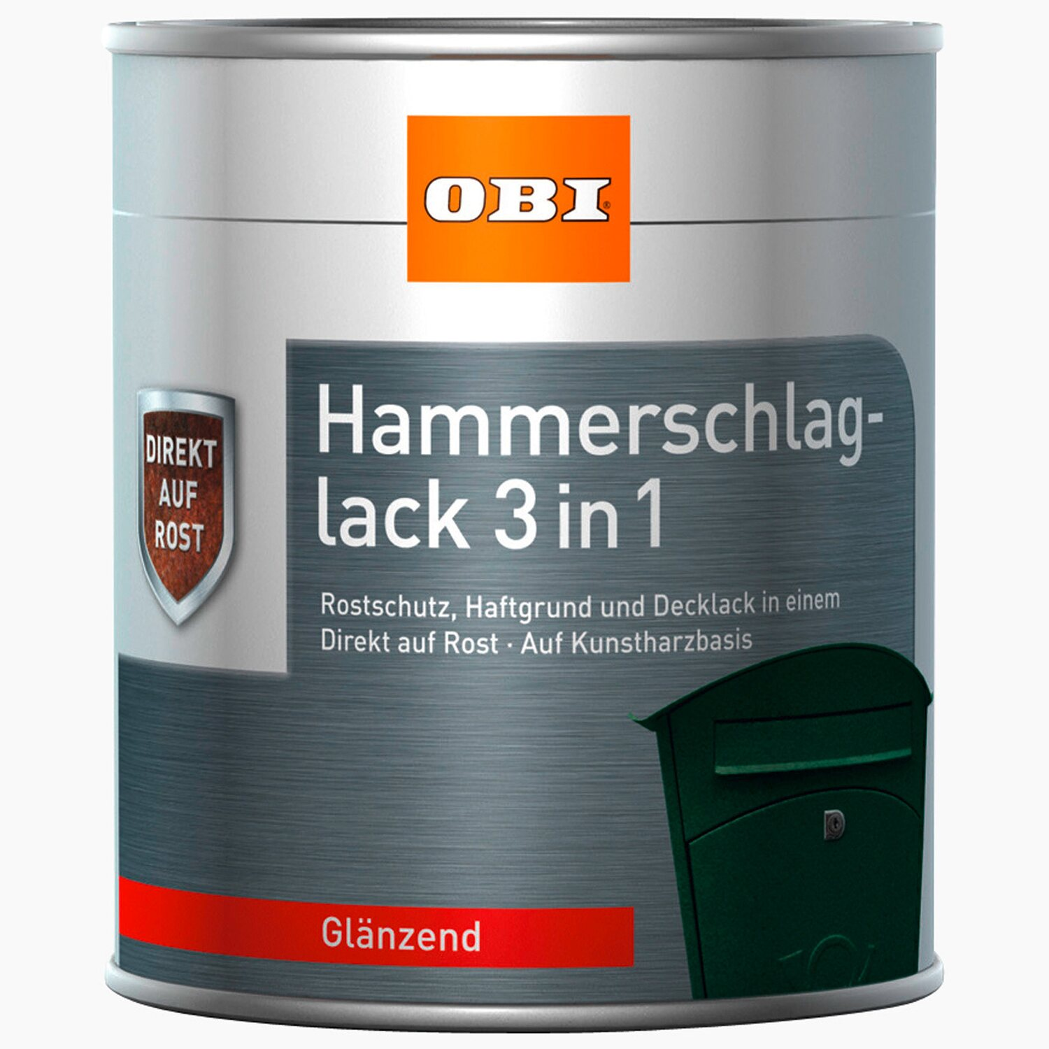 obi hammerschlaglack 3in1 anthrazit gl nzend 375 ml kaufen bei obi. Black Bedroom Furniture Sets. Home Design Ideas