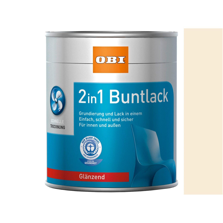 OBI  2in1 Buntlack Cremeweiß glänzend 2,5 l