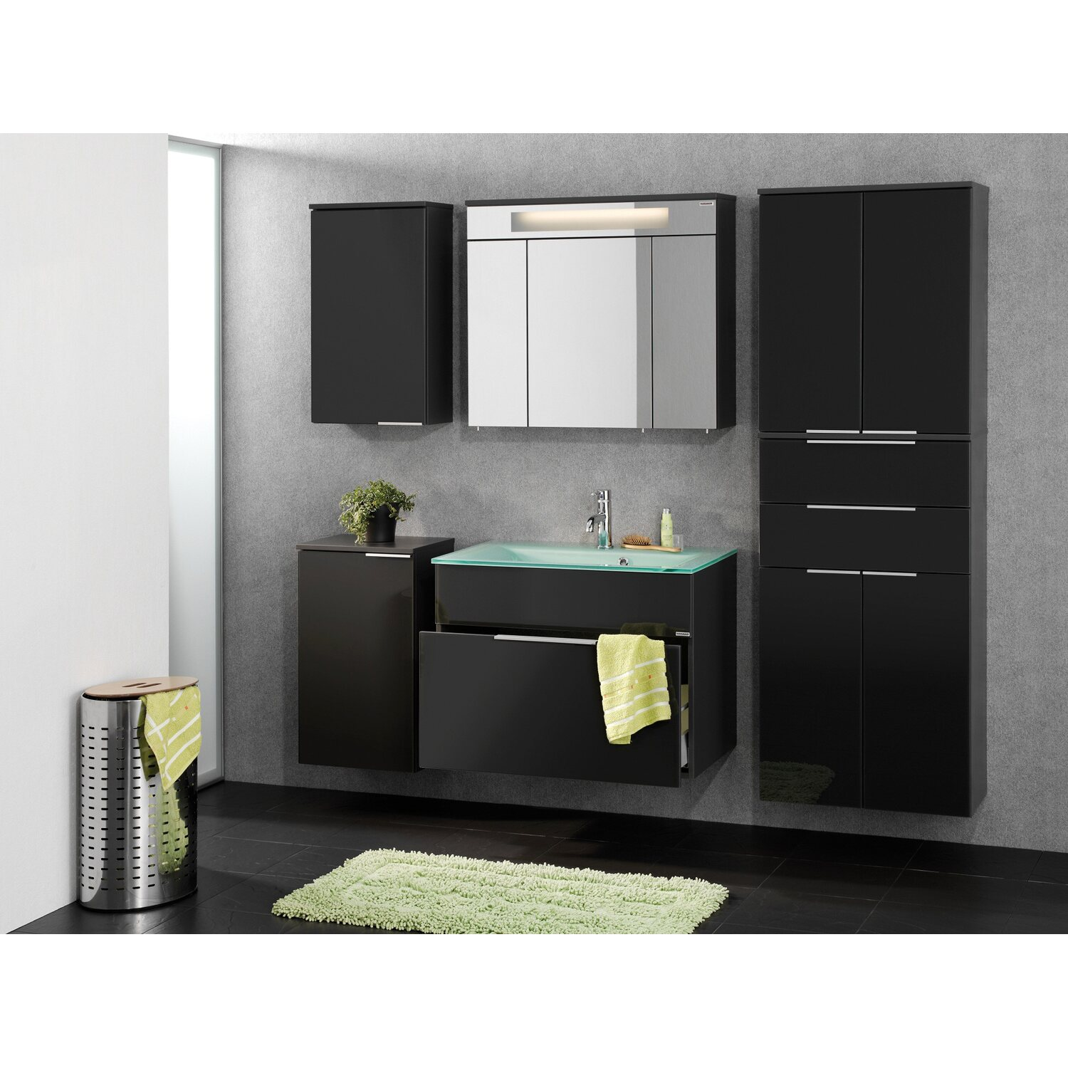 fackelmann hochschrank kara anthrazit kaufen bei obi. Black Bedroom Furniture Sets. Home Design Ideas