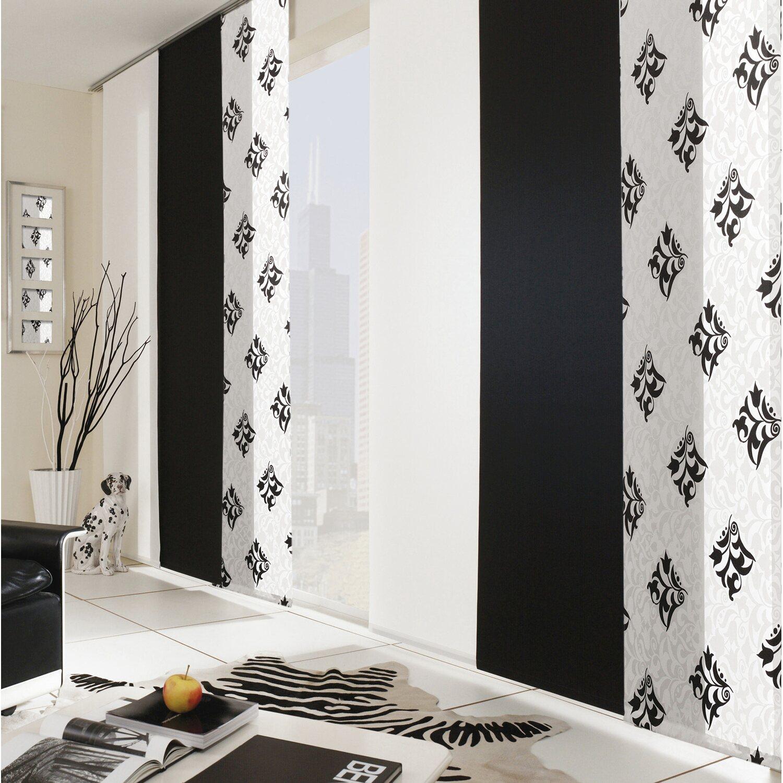 gardinia schiebevorhang retro schwarz 60 cm x 245 cm kaufen bei obi. Black Bedroom Furniture Sets. Home Design Ideas