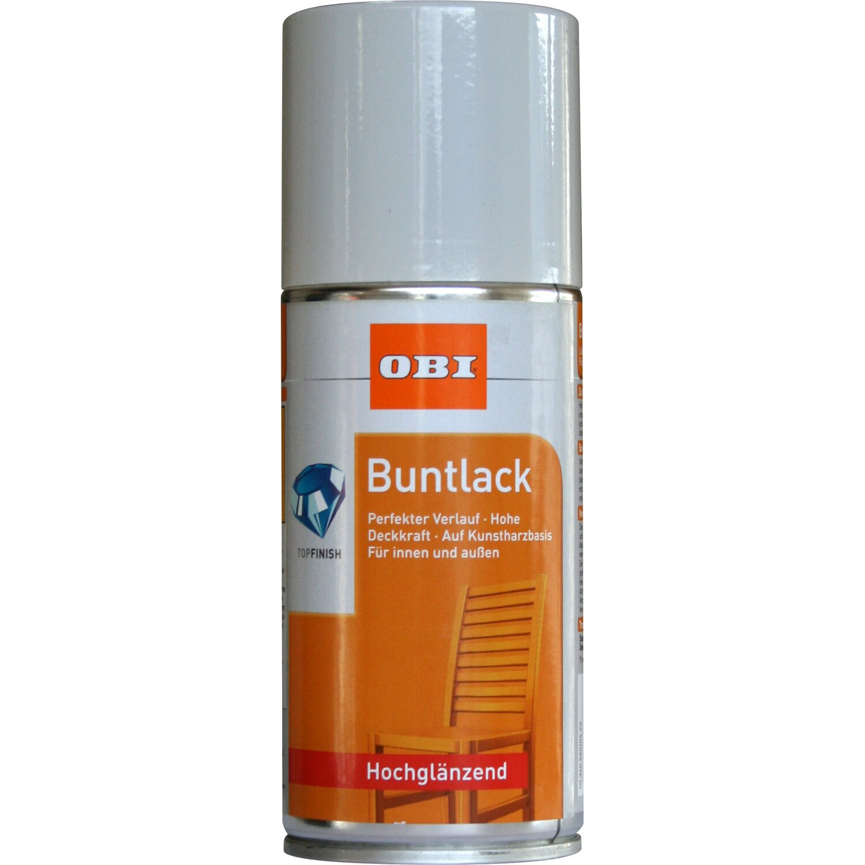 OBI Buntlack Spray Lichtgrau hochglänzend 150 ml