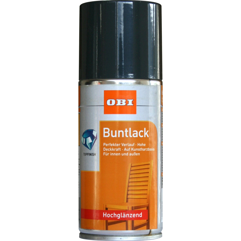OBI Buntlack Spray Anthrazit hochglänzend 150 ml