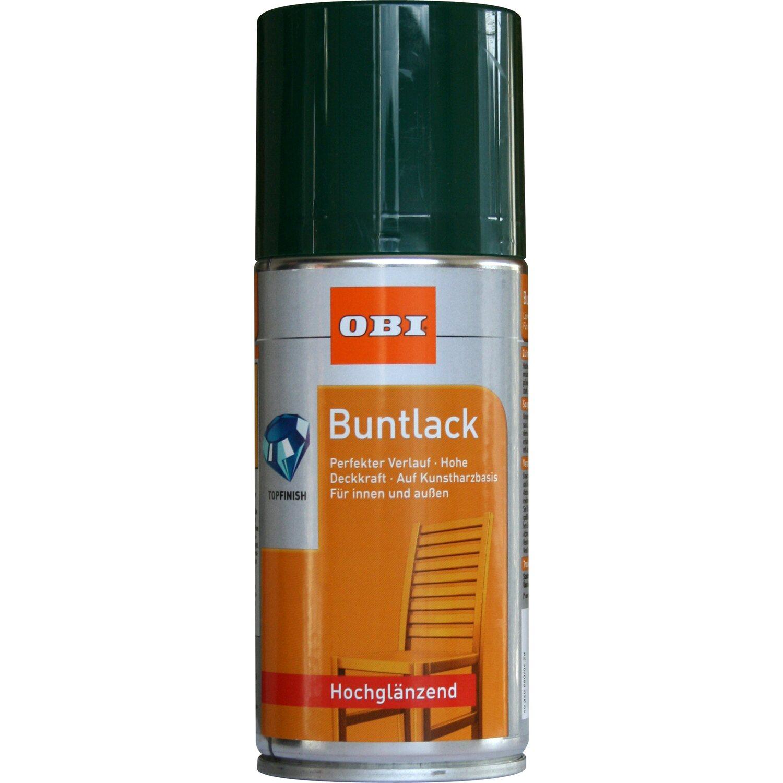 OBI Buntlack Spray Moosgrün hochglänzend 150 ml