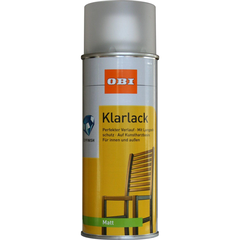 OBI Klarlack Spray Transparent matt 400 ml