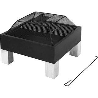 Design Feuerstelle tepro design feuerstelle laredo mit grillfunktion und funkengitter