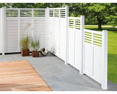 Sichtschutzzaun Element Limone Mit Gitter Weiss 90 Cm X 180 Cm Kaufen