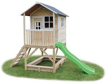 Exit Loft 500 Garten Spielhaus Natur Aus Holz Mit Rutsche Kaufen Bei Obi
