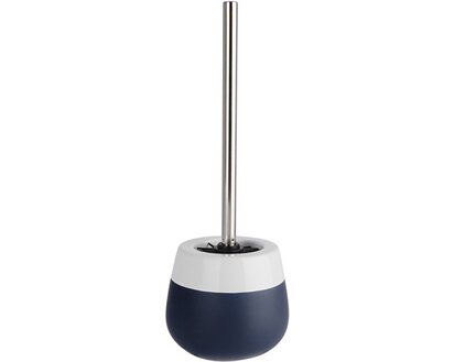 WENKO Toilettenbürste Malta Blau//Weiß Klobürste WC-Ständer Standgarnitur