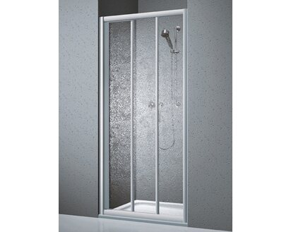 Nische Schwingt/ür 100 x 185 cm Pendelt/ür Duschwand mit Rahmen