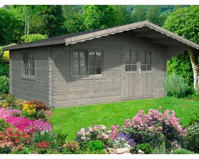 Gartenhaus Mit Fußboden Kaufen ~ Palmako holz gartenhaus sally grau bxt: 510 cm x 390 cm inkl