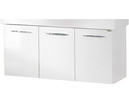 Fackelmann Vadea Waschbeckenunterschrank Badmöbel Schrank Weiß Drei