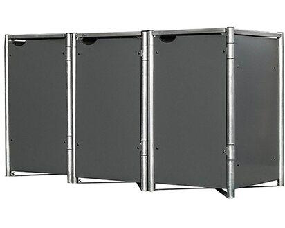 Hide Mulltonnenbox Kunststoff Fur 3 Tonnen 81 Cm X 210 Cm X 116 Cm
