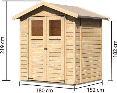 Karibu Holz Geratehaus Ostersund 2 Natur B X T 177 Cm X 149 Cm Kaufen Bei Obi