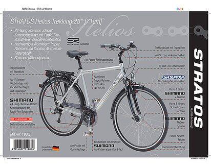 Stratos HELIOS Trekking Fahrrad 28 (71cm) Herren 24 Gang